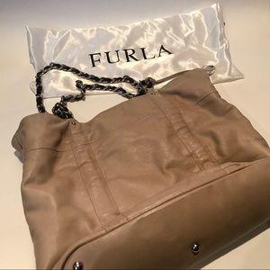 Furla tan leather purse
